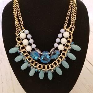 Talbots blue jeweled necklace